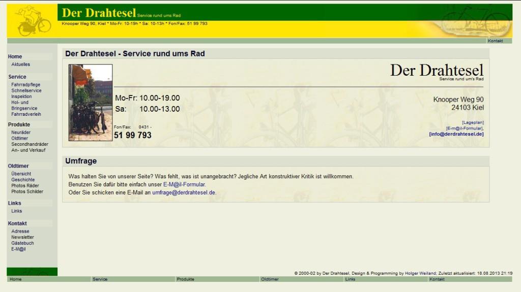 Webseite 2002